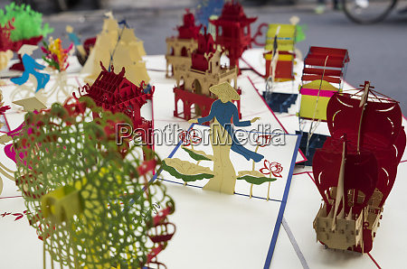vietnam hanoi souvenir 3d papier ausgeschnitten