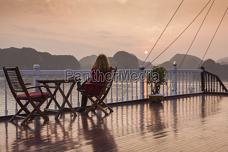 vietnam halong bay tourist boat deck