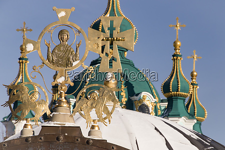 religioese symbole andreaskirche kiew ukraine