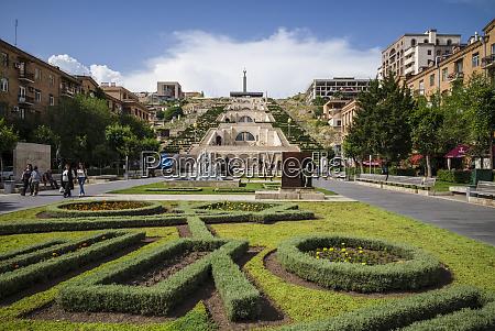 armenia yerevan the cascade view of