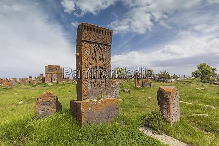armenia noratus town cemetery ancient khachkar