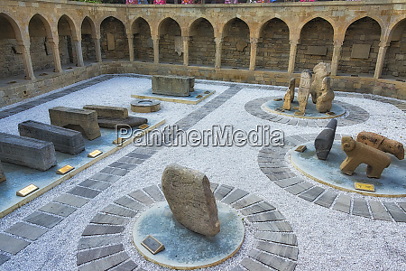 sculptures in the ancient caravanserai in