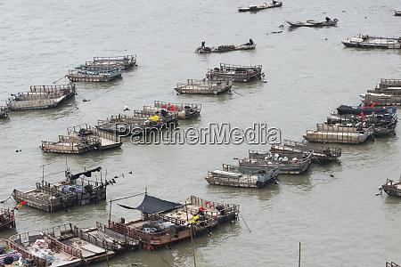 boats on east china sea xiapu