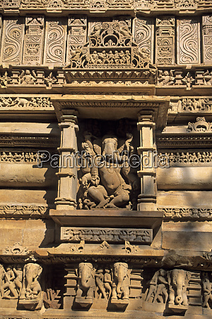 asien, indien, khajuraho., erotische, geschnitzte, figuren, erinnern, die - 27697185