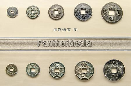 antike, währungsexponate, im, shanghai, museum, shanghai, china. - 27700332