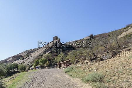 georgia kakheti gravel walkway to the