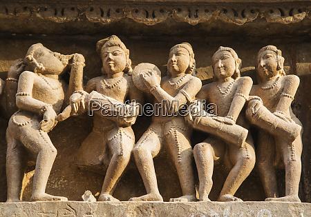 musiker erotische skulpturen von khajuraho madhya