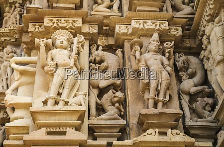 erotische, skulpturen, von, khajuraho, madhya, pradesh, indien. - 27705559