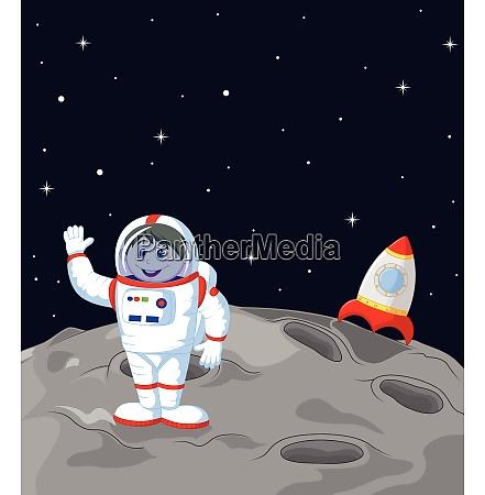 astronaut landet auf dem mond