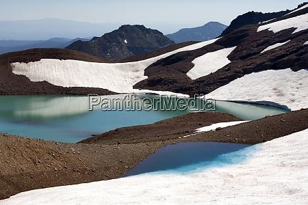 usa oregon broken top melting glaciers