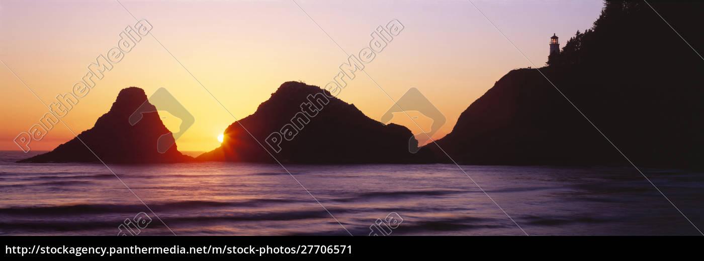usa, , oregon, , heceta, head., the, sun - 27706571