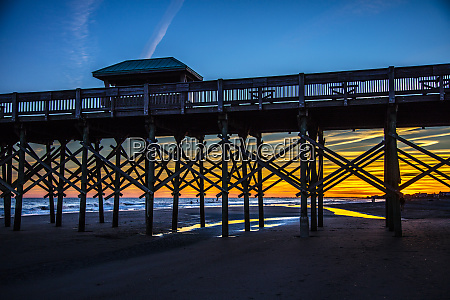 usa south carolina folly beach pier