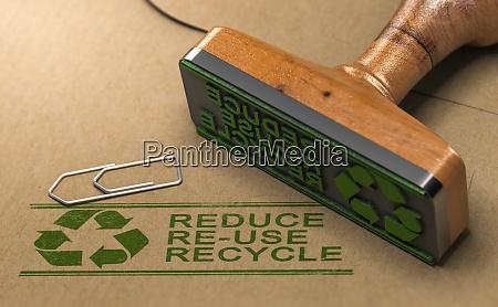 konzept fuer nachhaltige entwicklung reduzieren wiederverwenden
