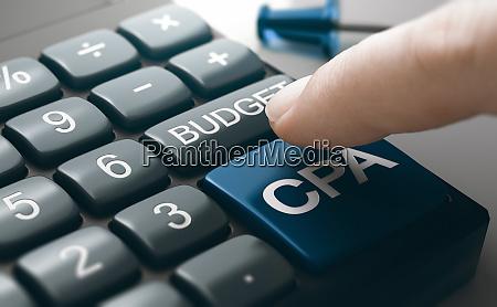 fingerdruecken eines konzeptionellen rechner buttons um