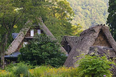 gassho zukuri house in the mountain