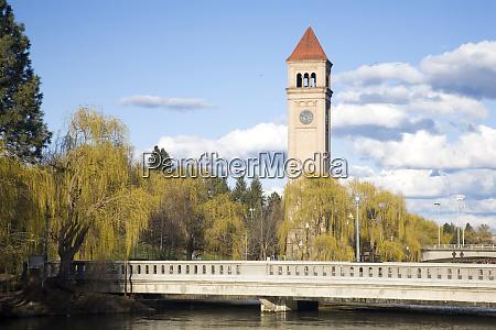 wa spokane riverfront park der clock