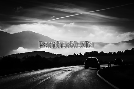 road with traffic and landscape