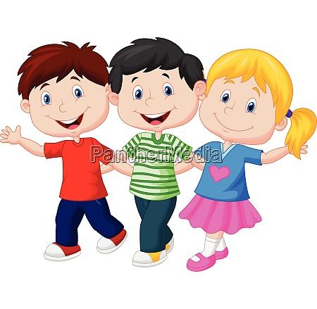 happy young children