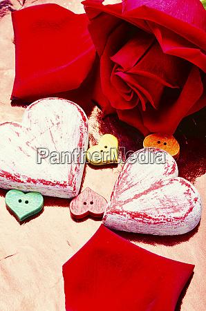symbolische herzen zum valentinstag