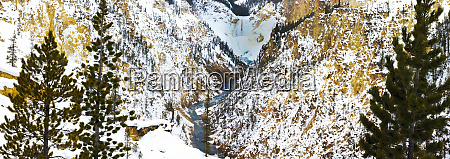 frozen waterfall seen from artist point