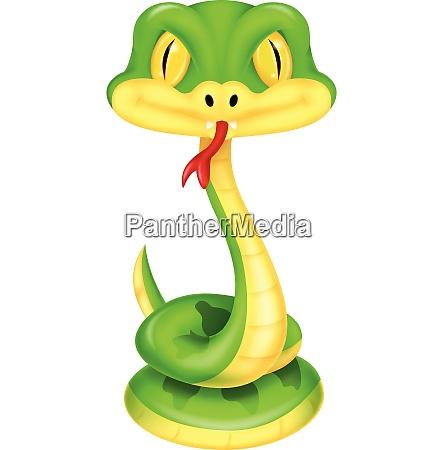 suesse gruene schlange cartoon