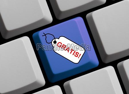 computertastatur mit tag mit frei in