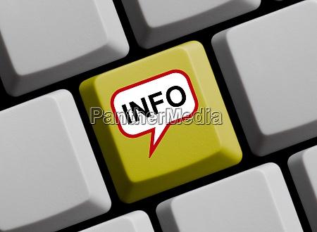 sprachblase auf der computertastatur info