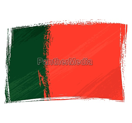 grunge gemalt portugal flagge