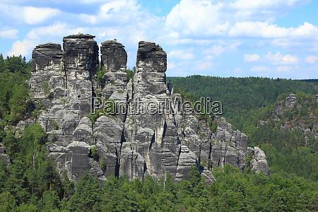 sandsteinformation in bastei deutschland