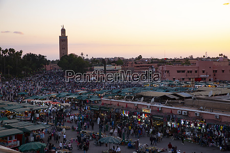 marrakesch marokko jemaa el fna in