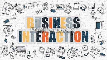 business interaction multicolor konzept mit
