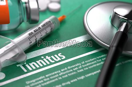 diagnose tinnitus medizinisches konzept