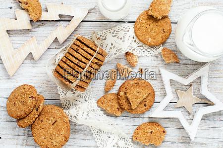 hausgemachte haferflocken kekse
