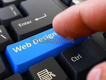 druecken sie die taste webdesign auf