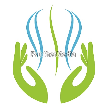 zwei haende person orthopaedie massage logo