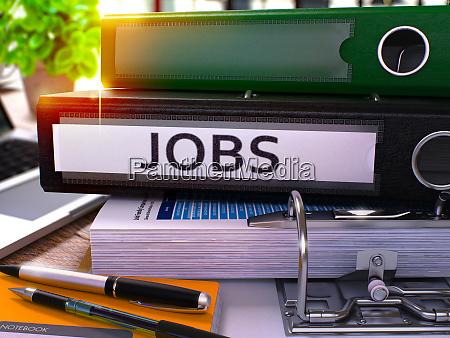 black office ordner mit inschrift jobs
