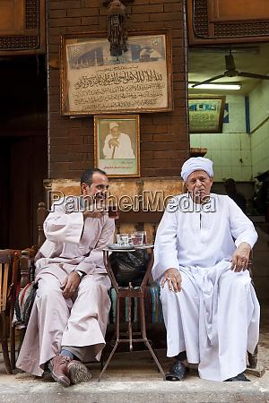 egyptian men drinking tea khan al