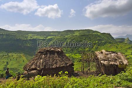 village house in simien mountain ethiopia