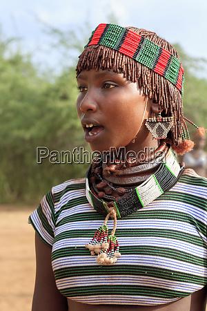 hamer woman keske ethiopia africa