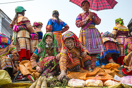 flower hmong staemme menschen auf dem