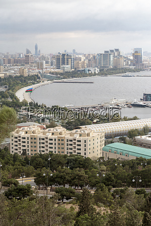 aserbaidschan baku blick auf die kueste