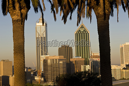 view of the perth cbd skyline
