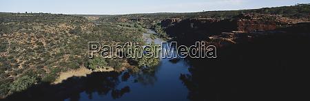western australia murchison river canyon in