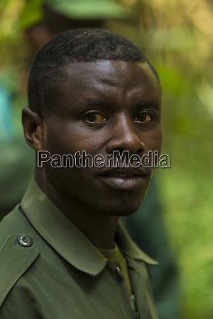 africa rwanda portrait of guide at
