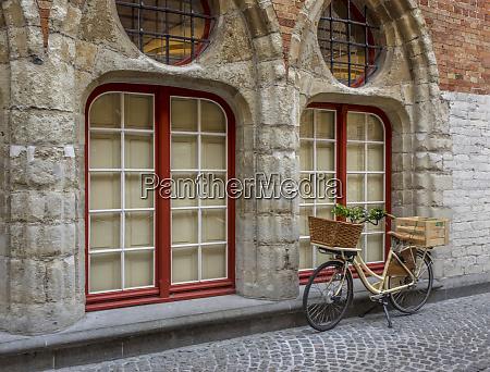 belgium brugge west flanders street scene