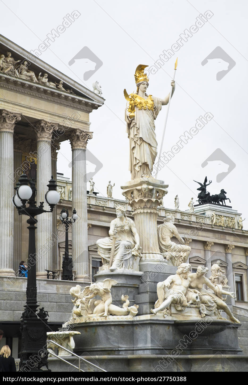 Österreich, wien., eine, romanische, statue, steht, auf - 27750388