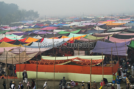 tent area housing pilgrims during bishwa