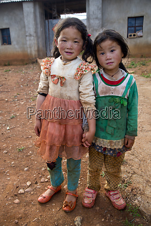 pair of young chinese girls with