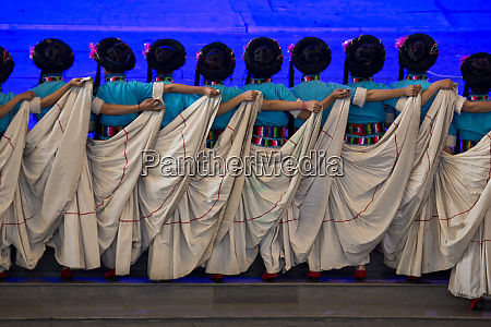 chinese ethnic dance performance at the