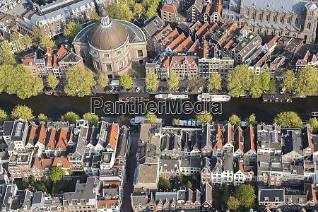 luftaufnahme von amsterdam holland niederlande